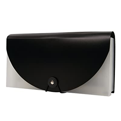 A6 Small Expanding Portable Hand-Held Accordian File Folder File Organizer Wallet for Cards Coupons Receipt Tax Item or Changes, 10.32X5.31 inches, 13 Pockets (Black): Office Products