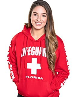 LIFEGUARD Official Ladies Red Hoodie Florida Large