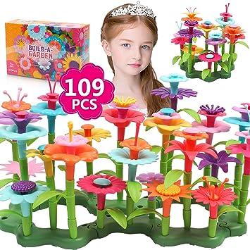 DigHealth Flores Juguete para Niñas, 109 PCS Jardín Flores Playset Regalos, Juego Creativos de Construcción de Floral para Niñas y Niños de 3-6 años: Amazon.es: Juguetes y juegos