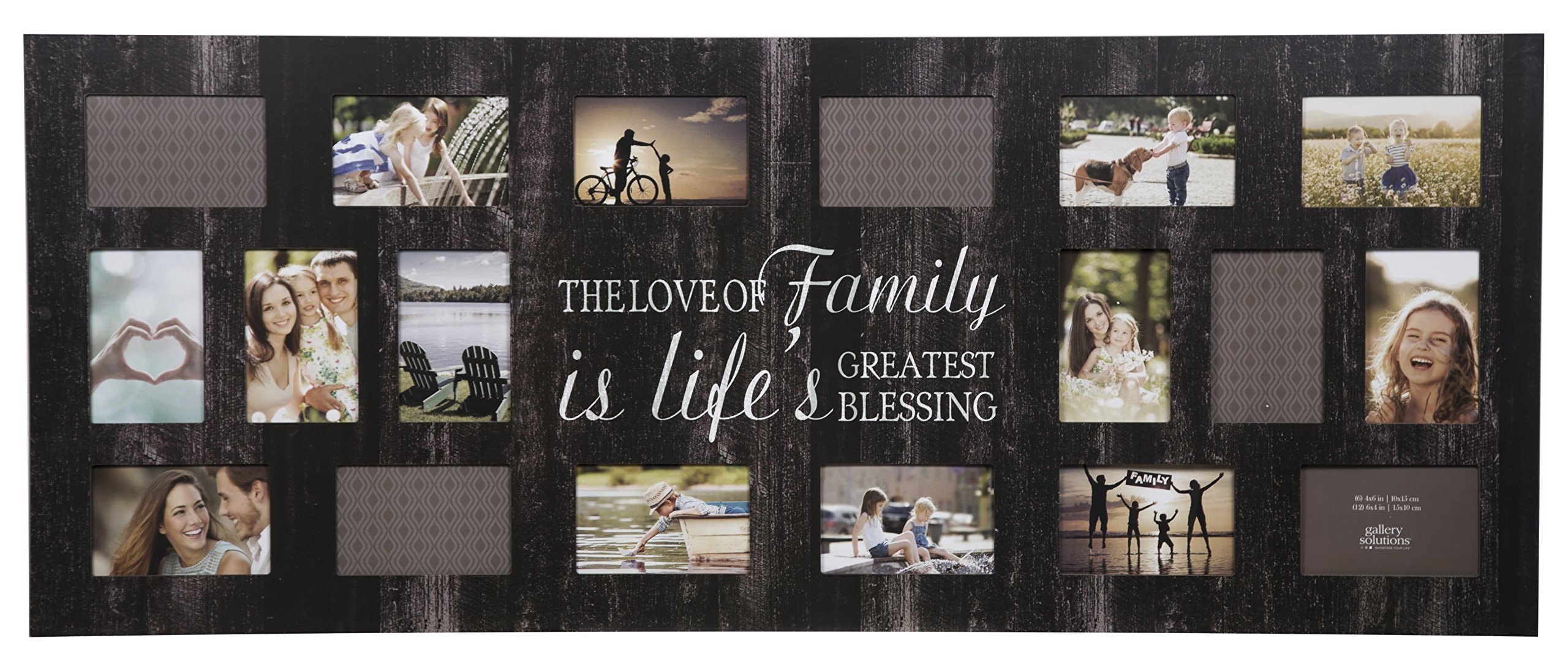 Burnes of Boston Rustic 18 Opening Distressed Family Collage Frame by Gallery Solutions