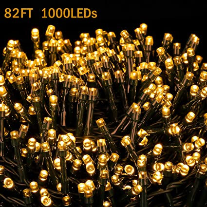 novtech led string lights 82ft 1000 leds christmas lights indoor outdoor decorative fairy lights decoration lights
