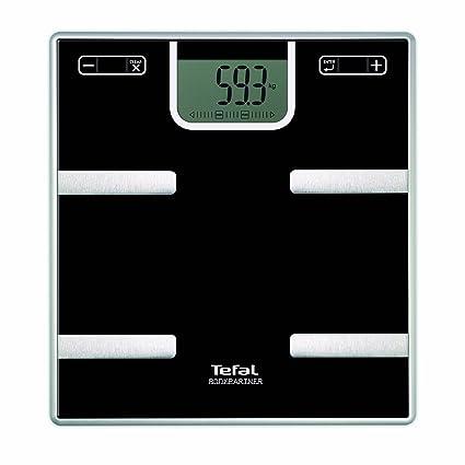 Tefal Bodypartner - Báscula de baño, color negro