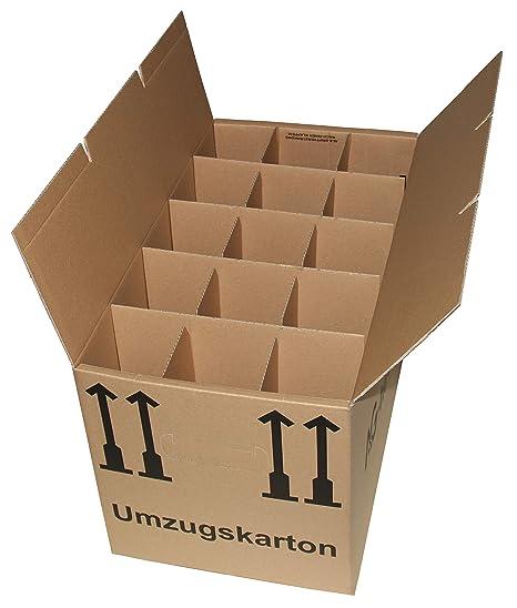 5 gläserka rtons Botella Vajilla para mudanza Cajas Cartón Ondulado de 2 15 Compartimiento de a