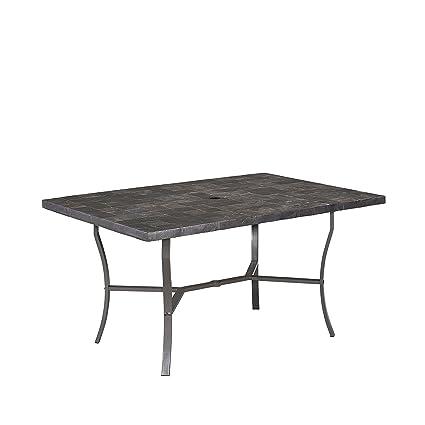 Amazon Com Home Styles 6000 31 Stone Veneer Outdoor Dining Table