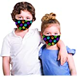 Snoozies Kids Face Mask - 1 Cloth Face Mask for Kids with Filter Pocket + 4 Filters - Washable Reusable Face Mask - Ear…