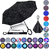 Double Layer Inverted Umbrellas Reverse Folding Umbrella Windproof UV Protection Big Straight Umbrella Inside Out Upside…