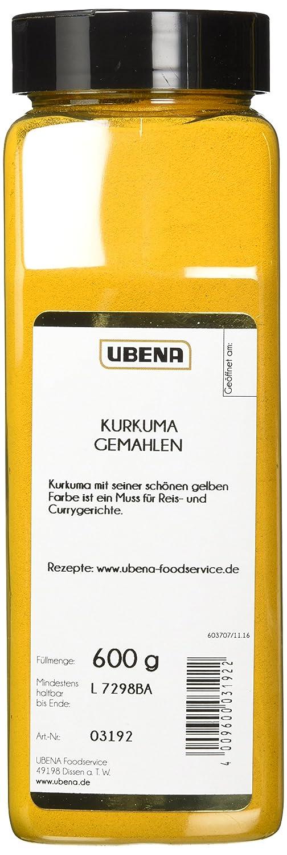 UBENA Kurkuma gemahlen, 2er Pack (2 x 600 g): Amazon.de ...