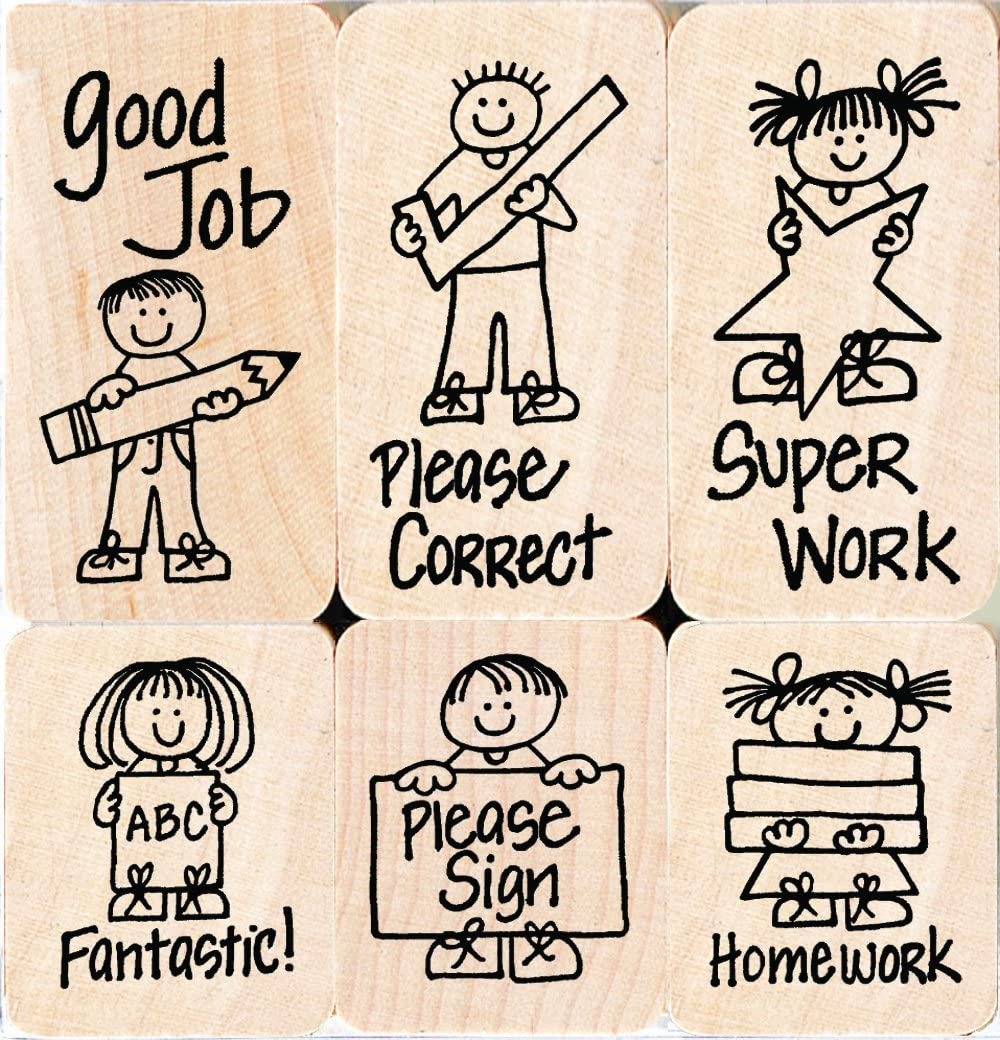 Hero Kids for Teachers Hero Arts LL504 Woodblock Stamps