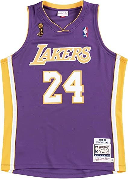 Los Angeles Lakers Kobe Bryant Mitchell and Ness Authentic 2008-09 Purple Road Finals Jersey