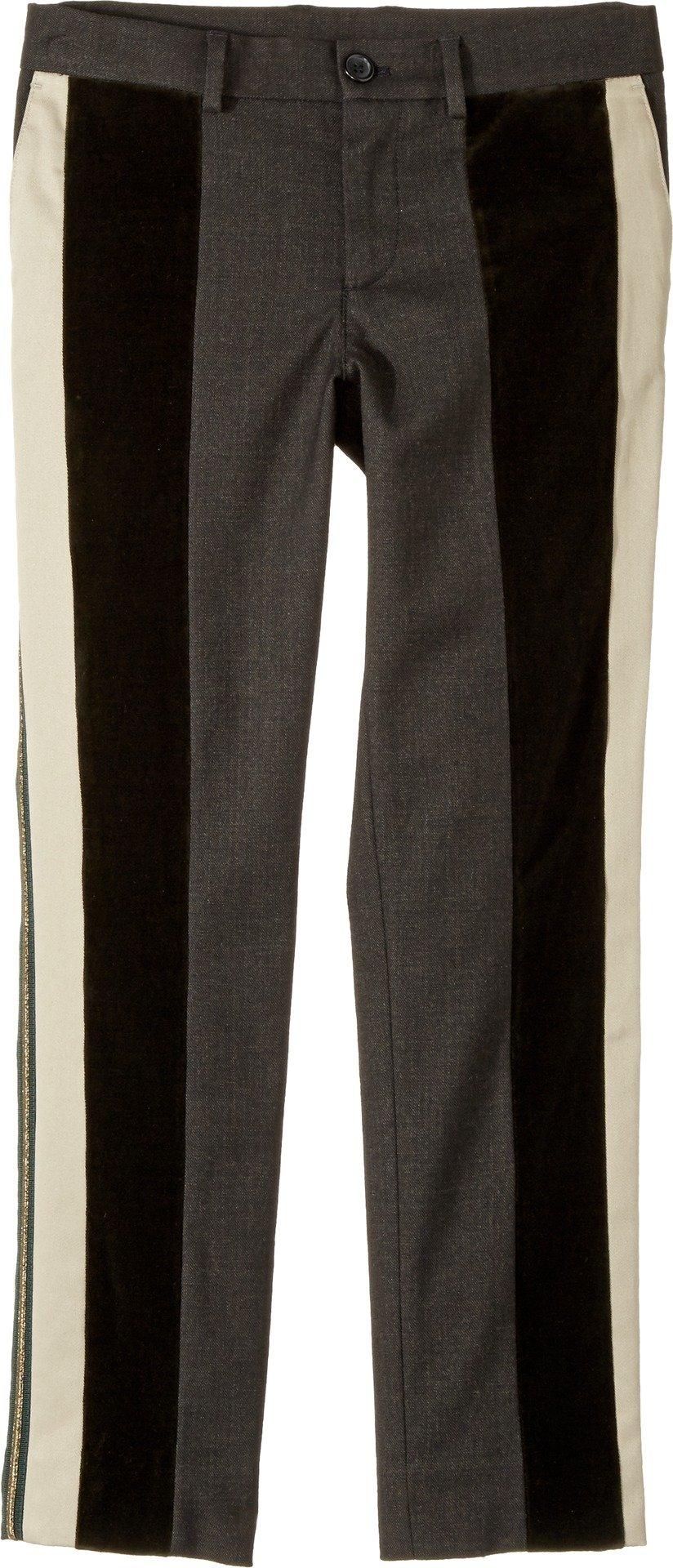 Dolce & Gabbana Kids Boy's Side Stripe Pants (Big Kids) Green 10