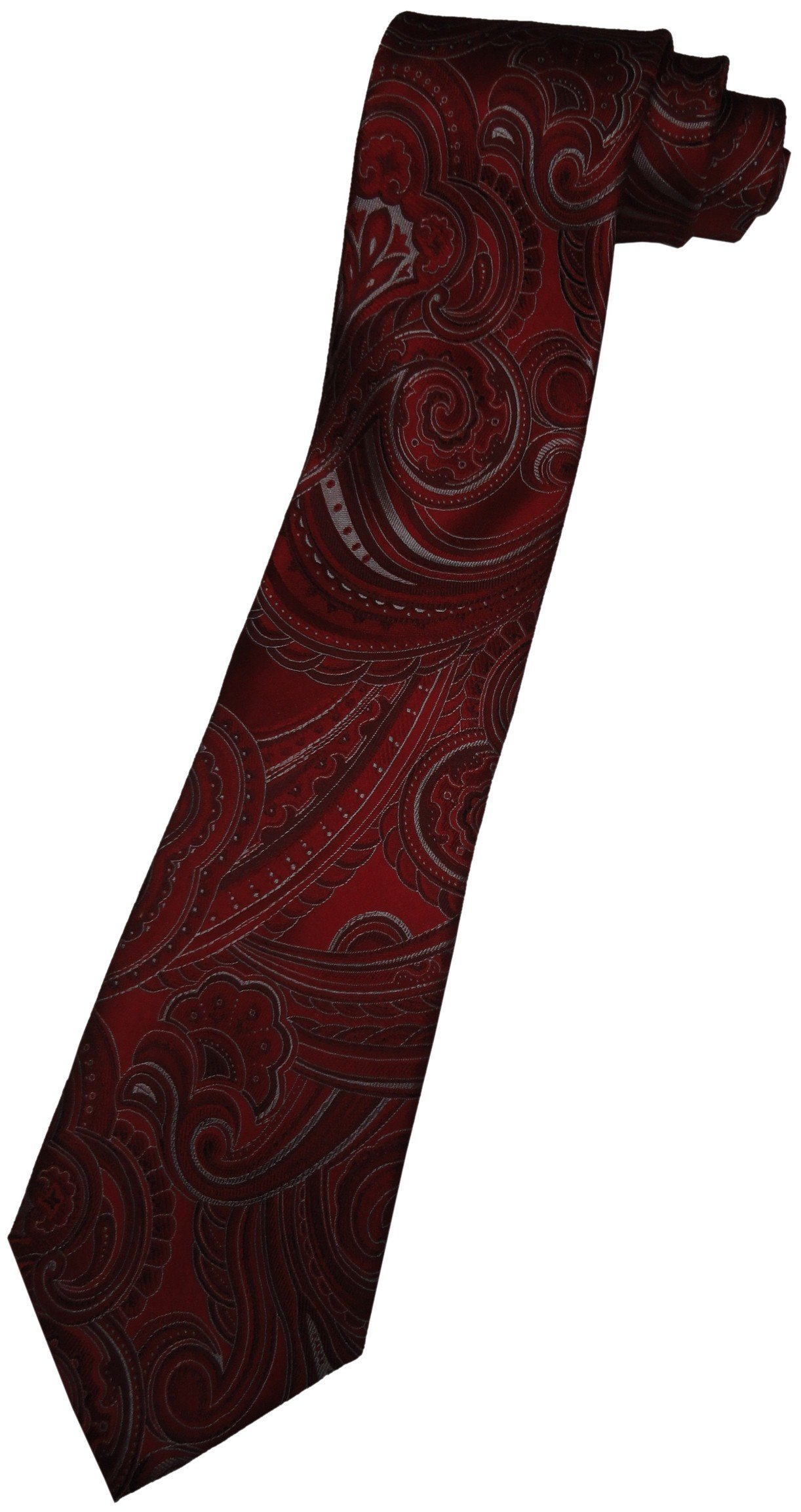Donald Trump Signature Collection Neck Tie Red Paisley by Donald Trump