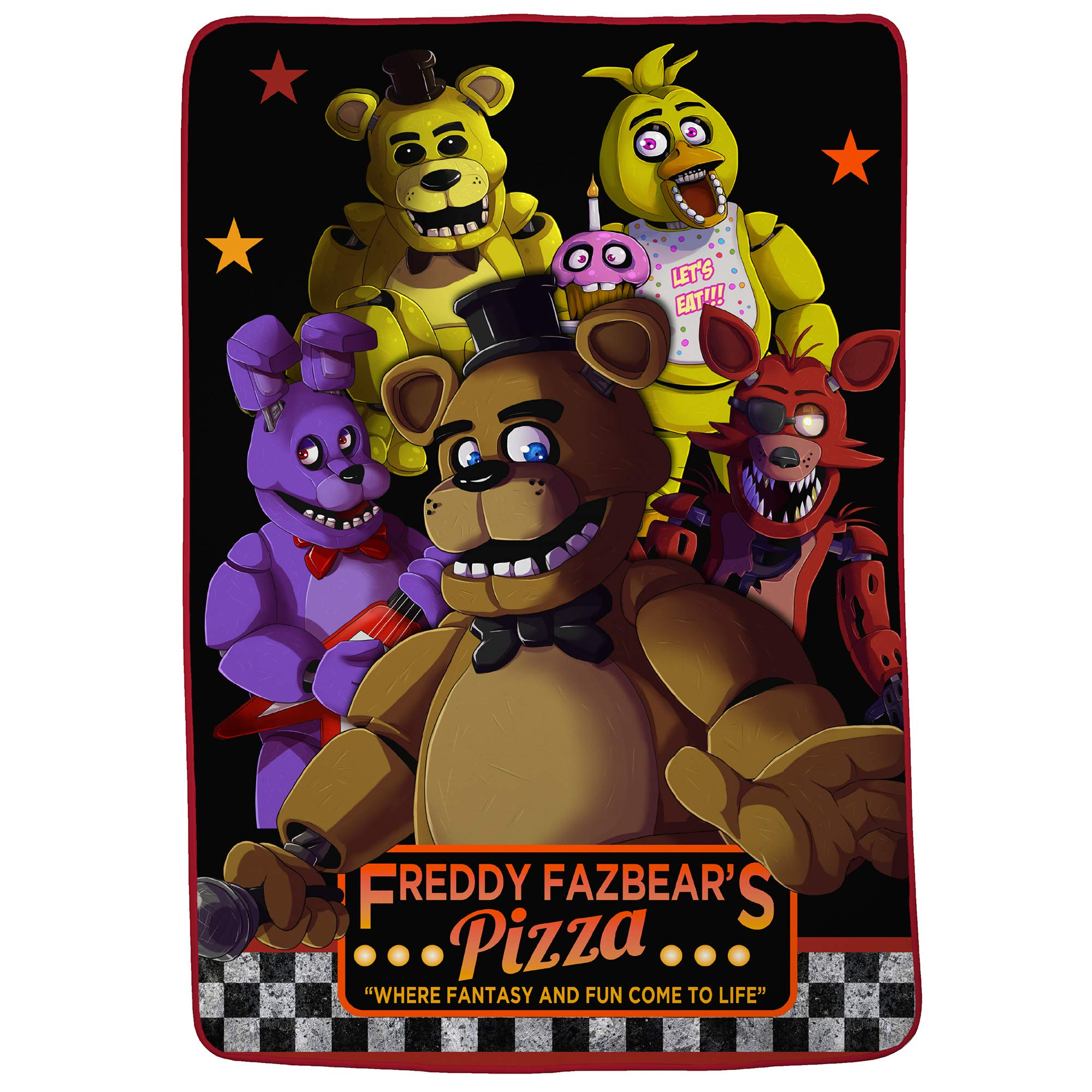 Franco Kids Bedding Super Soft Blanket, Twin/Full Size 62'' x 90'', Five Nights at Freddy's by Franco