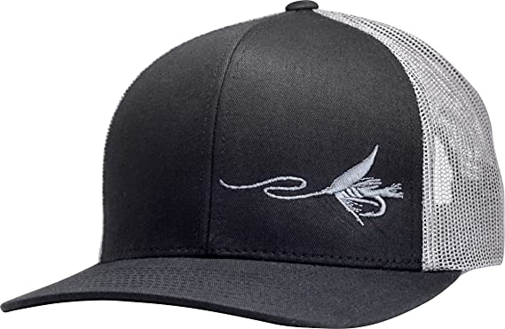 91f0667dd4fc9 Lindo Trucker Hat - Fly Fishing (Black Graphite) at Amazon Men s ...