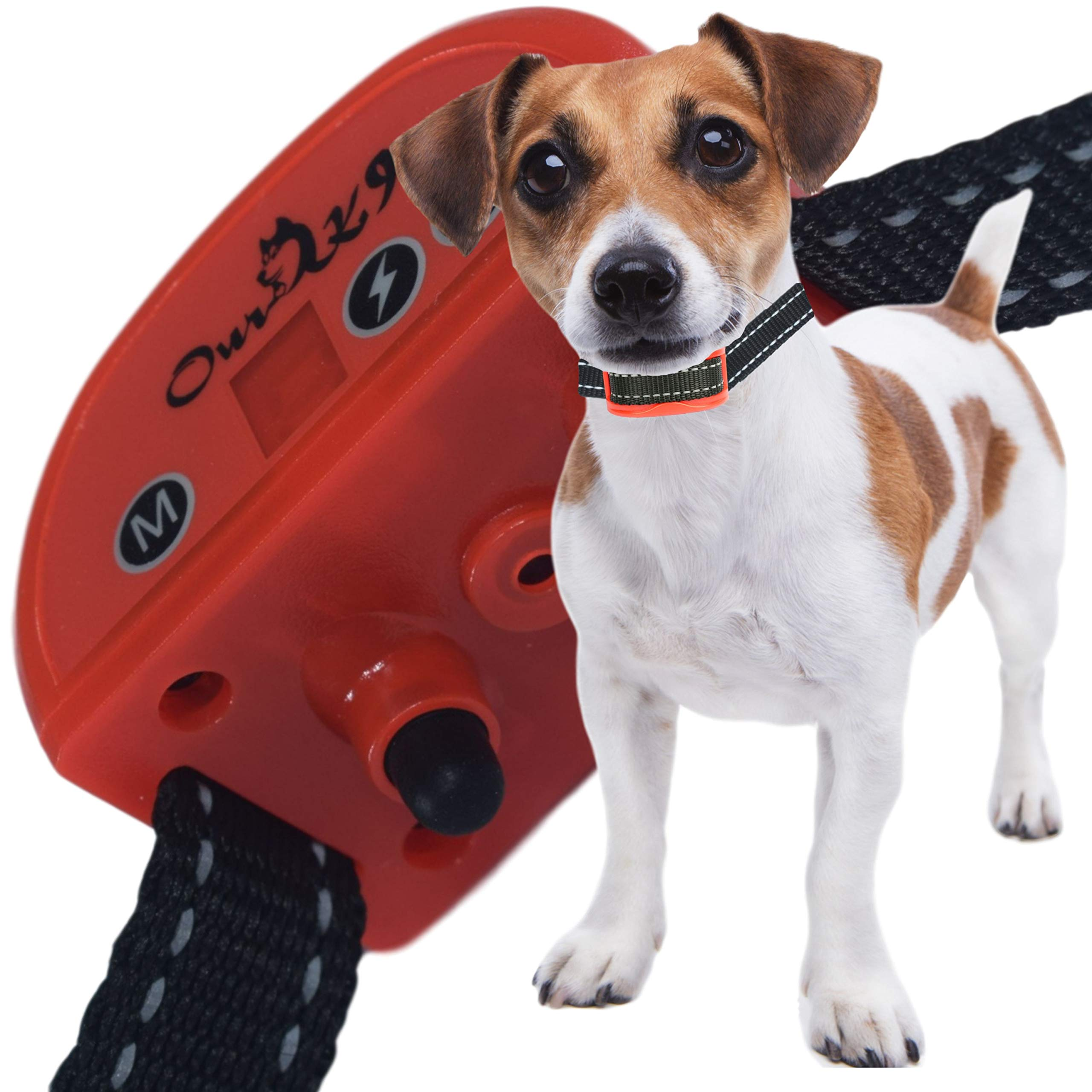 Our K9 Training Made Easy - Anti - Bark Collar - Sound (Beep) or Silent (Ultrasonic) & 7 Levels of Adjustable Vibration or Shock, Pain-Free and Ultra Safe Cherry