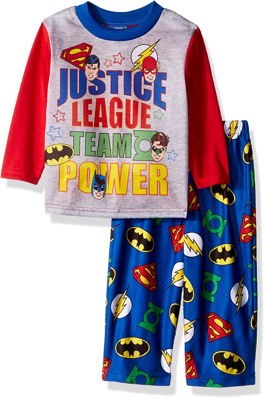 JUSTICE LEAGUE Toddler Boy/'s Pajama Set BATMAN SUPERMAN FLASH GREEN LANTERN 4T