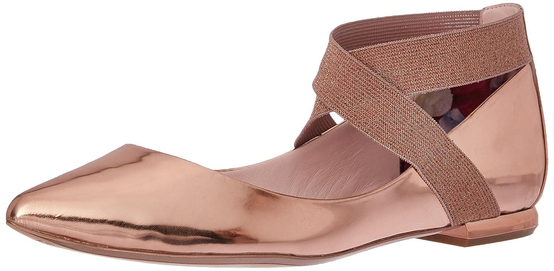 Ted Baker Women's Cencae Lthr Af Shoe Ballet Flat B01LYYQYMS 8.5 M US|Rose Gold
