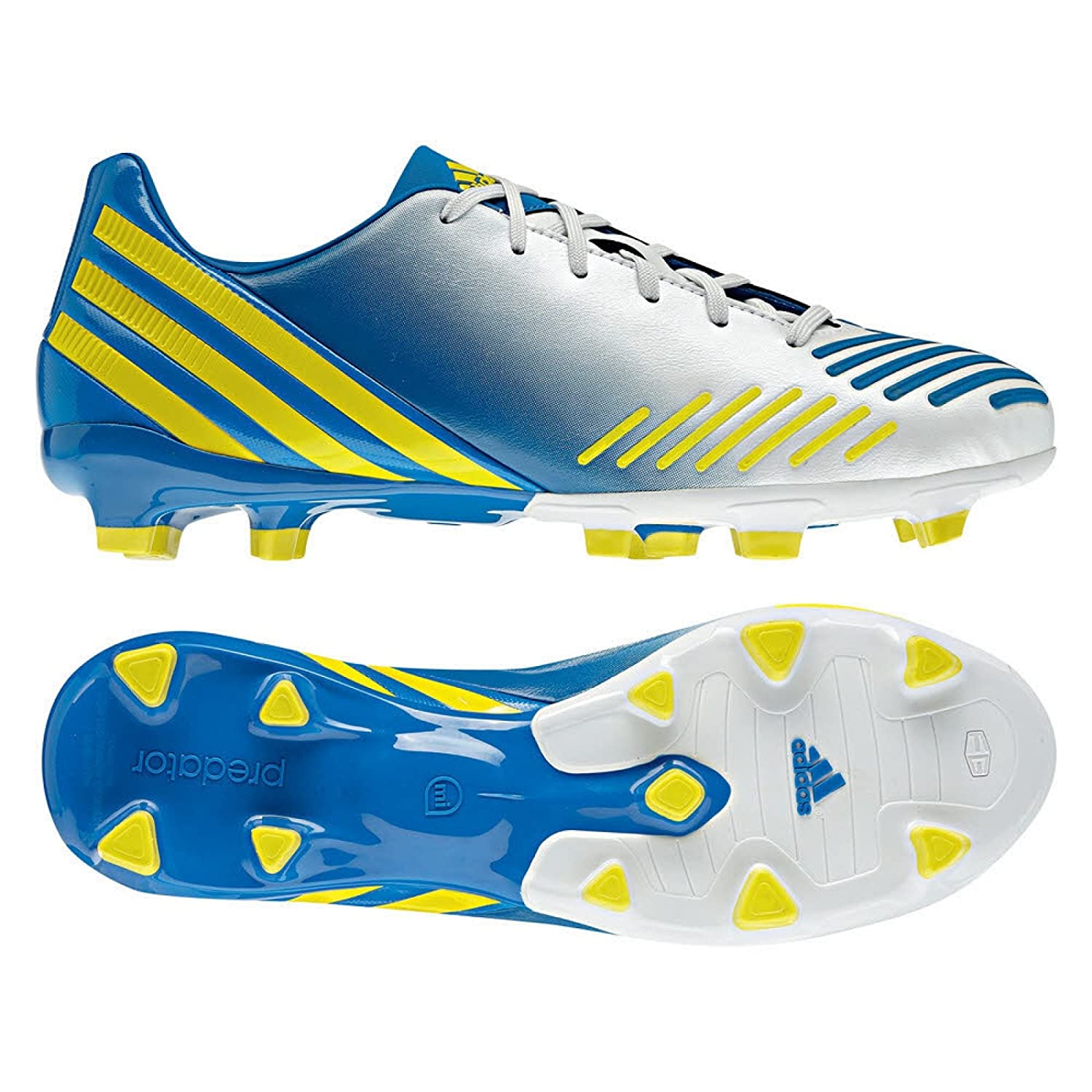newest fcad7 b987d Amazon.com   Adidas Predator Absolado LZ TRX FG (White Yellow Blue) (6.5)    Soccer