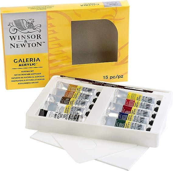 Winsor & Newton Galeria Set Completo De Pintura Acrílica, Multicolor: Amazon.es: Oficina y papelería