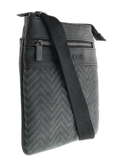 f8c9a39bdf4b Versace EE1YOBB52 EMAQ Black Grey Mens Messenger Bag  Amazon.ca  Shoes    Handbags