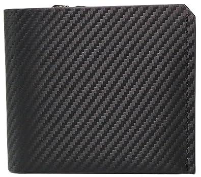 5fa843201495 ブラック F 大人 紳士 本革 イタリアンレザー カーボンレザー 二つ折り 財布 2つ折り 短