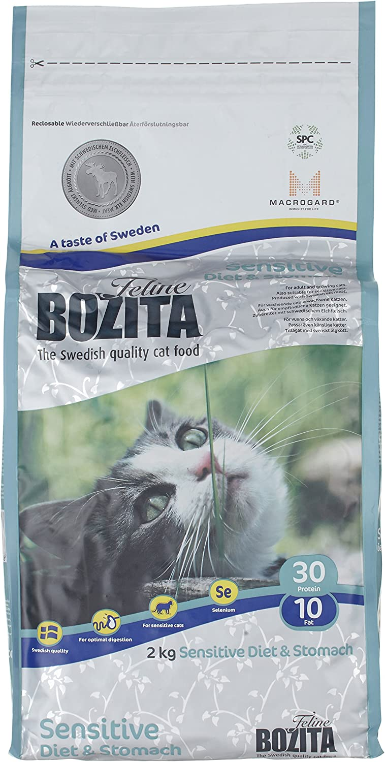 Bozita Feline Diet & Stomach-Sensitive 2 kg, Paquete de 1 (1 x 2 kg)