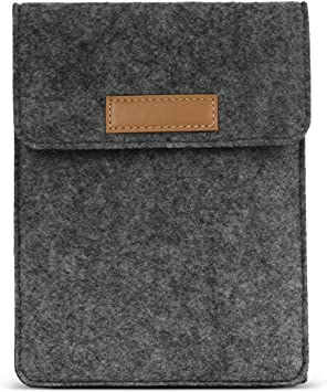 MoKo 6 Inch Kindle Sleeve Case Fits All-New Kindle Paperwhite 2018//Kindle 10th Generation 2019 Black //Kindle Oasis 6 E-Reader 8th Gen Lightweight Portable Cover Bag for Kindle Voyage//Kindle