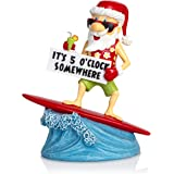 Besti Funny Garden Gnome - Novelty Lawn and Yard Figurine: It's 5 O'Clock Somewhere, Beach-Themed, Party Figure on a Surfboar