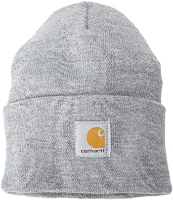 47c9bab9956 Carhartt - Acrylic Watch Cap - Grey - Knitted Beanie Hat  Amazon.co ...