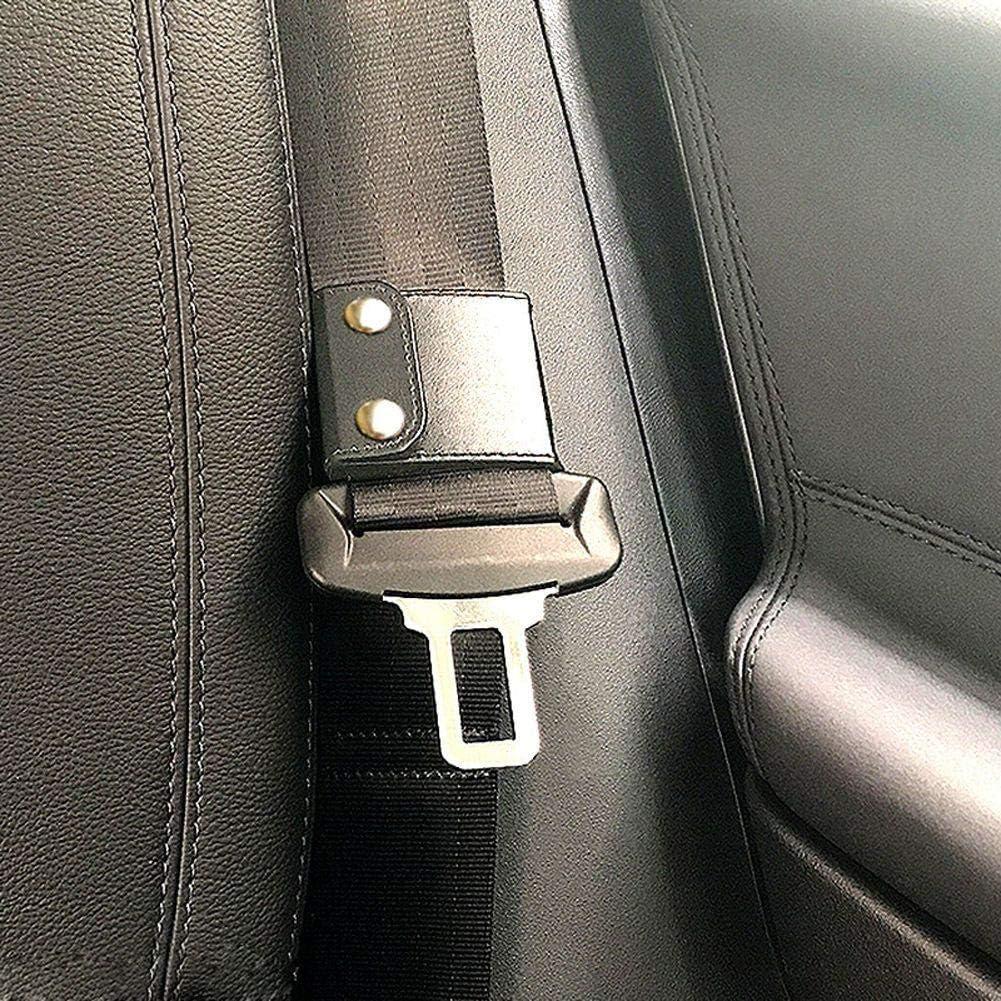 Delleu 2Pcs Car Seatbelt Adjuster Comfort Universal Car Seat Belt Safety Auto Shoulder Neck Strap Positioner Locking Clip Protector