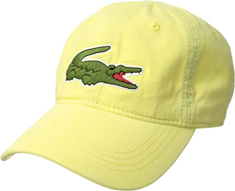 fbfa817d Lacoste Mens Big Croc Gabardine Cap - Yellow - One Size: Amazon.co.uk:  Clothing