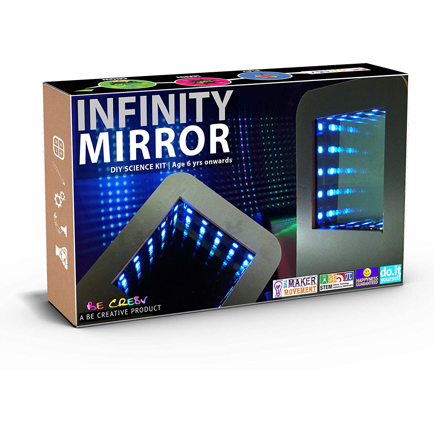 Buy Be Cre8v Led Based Infinity Mirror Diy Educational Electronic Kit Toy For Kids Over 6 Years Online At Low Prices In India Amazon In
