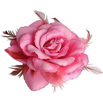 Baby pink rose hair clip large rose fascinator rose hair accessories baby pink rose hair clip large rose fascinator rose hair accessories clip elastic wedding mightylinksfo