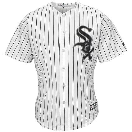 77e76e79a VF Chicago White Sox MLB Mens Majestic Cool Base Replica Jersey White  Pinstripe Big   Tall