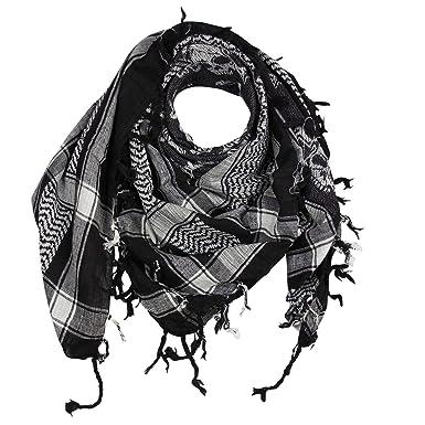 cd02ba3583c FREAK SCENE® Foulard palestinien keffieh en coton - motifs tête de mort n°4-100  x 100 cm - noir motif blanc  Amazon.fr  Vêtements et accessoires
