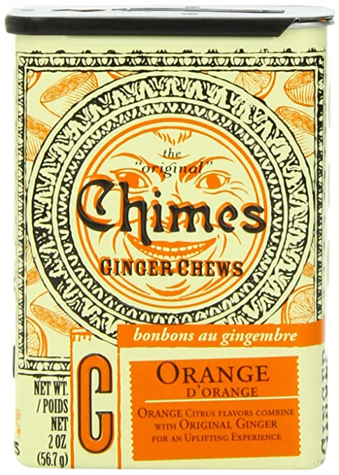 Chimes Orange Ginger Chews, 2-Ounce Containers (Pack of 20)