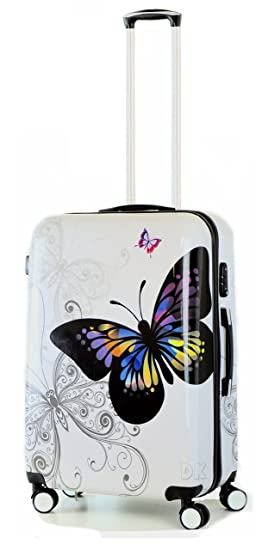 c210e4d7ff DK Luggage, Valise blanc Blanc/papillon Cabin: Amazon.fr: Bagages