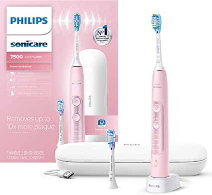 Philips Sonicare ExpertClean 7500 Pink, Rechargeable electric power toothbrush, HX969007