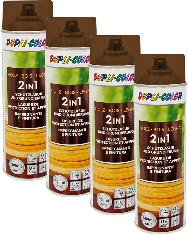 4x Dupli Color Holzschutzlasur Wasserabweisend Allwetterschutz Nussbaum Dunkel Auto