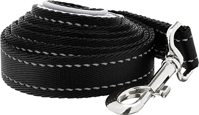 Amazon Basics - Correa para perro con mango acolchado, 1,21 m, Negro