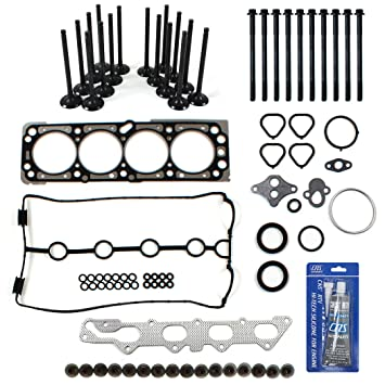 TS2637900HBSIVK New Head Gasket Set, Head Bolts Kit, Intake Exhaust Engine  Valves, RTV Gasket Sealant for 06-08 Chevrolet 1 6L (98) DOHC L4 VIN
