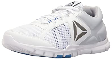 Reebok Men s Yourflex Train 9.0 MT Running Shoe White Vital Blue Cloud Grey  10 e12ce6fdb
