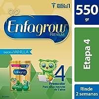 Enfagrow 4, Bolsa 550 gr, Leche de Crecimiento para Niños Mayores de 3 años