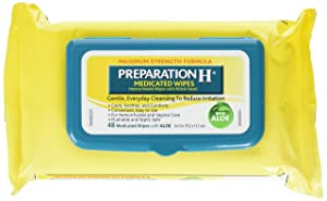 Preparation H Medicated Wipes 48 Ea