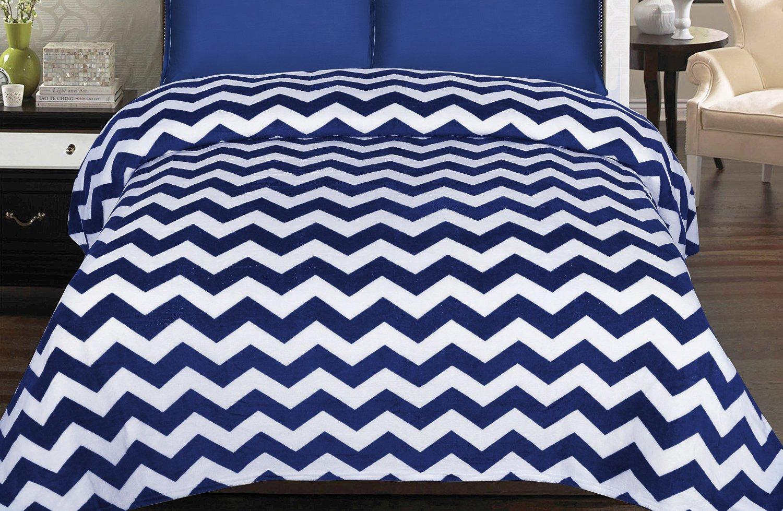 Coral Fleece Blanket (Navy, Ki...