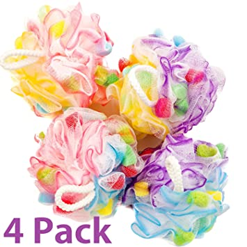 Amazon Bath Blossom Large Shower Sponge Pouf 40 Pack Bath Enchanting Mini Loofah Poufs