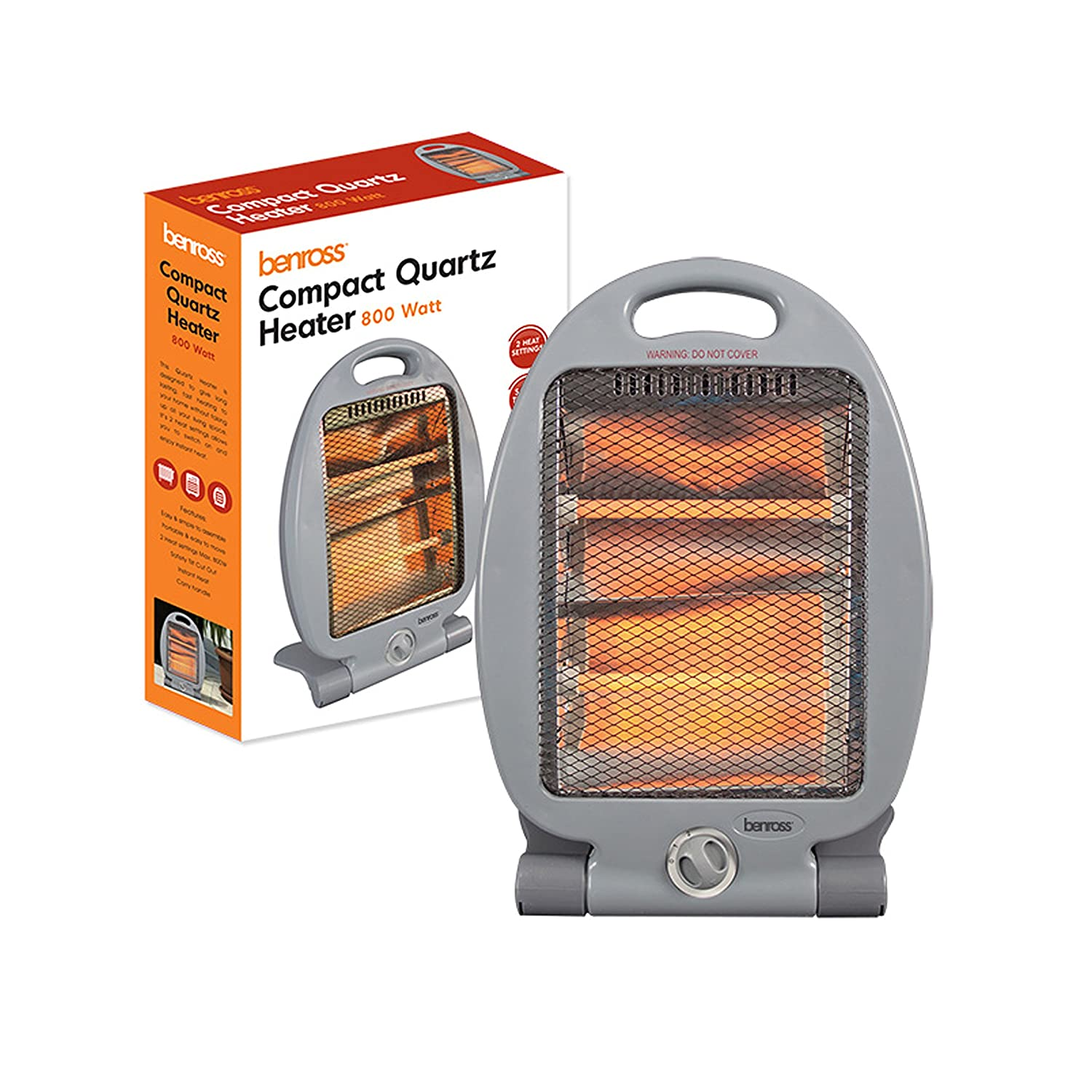 Benross Compact Quarz Heater, 800 Watt Benross Marketing Ltd 41550