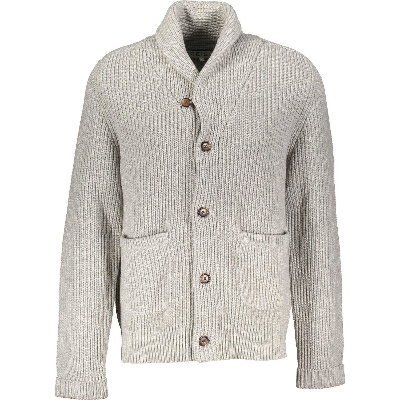 REISS Grey Knitted Woolen Cardigan