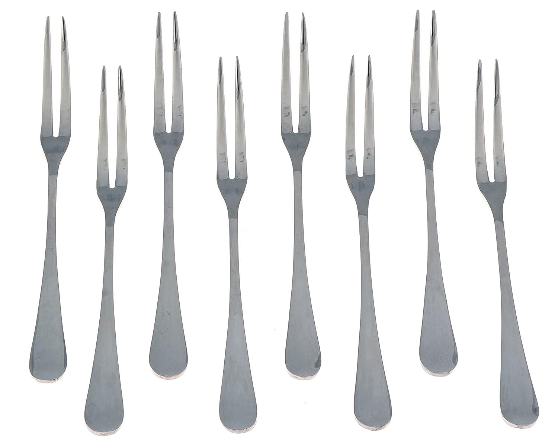 Seikei Bistro Appetizer Cocktail and Fruit Forks - 8 Piece Set - Stainless Steel Seikei Designs