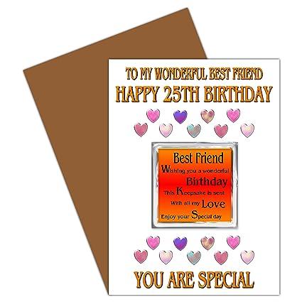 Mejor amigo 25th Tarjeta de felicitación de cumpleaños con ...