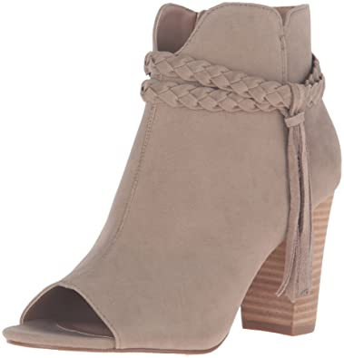 XOXO Women's Belina Ankle Bootie, Taupe, ...